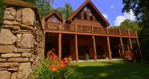 Legacy Lakefront Log Home